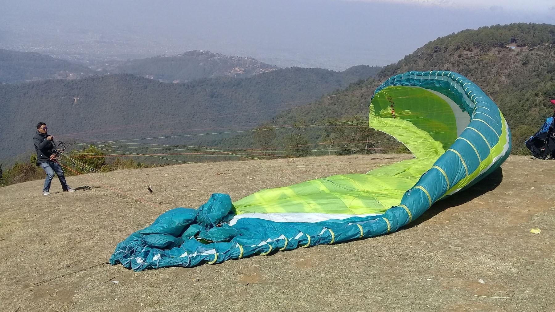 Wanna go paragliding within Kathmandu valley? Then go to Godavari