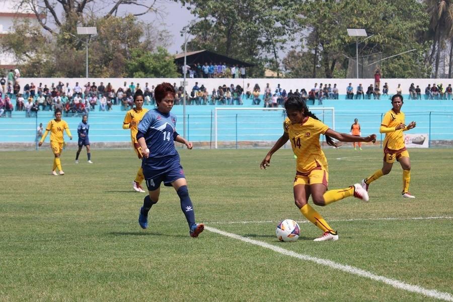 SAFF women football: Nepal enters final