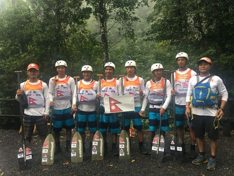 Nepal finishes sixth in downriver World Rafting C'ship