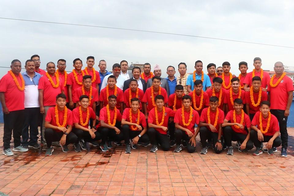 Nepali football team to play against Jordan on Saturday
