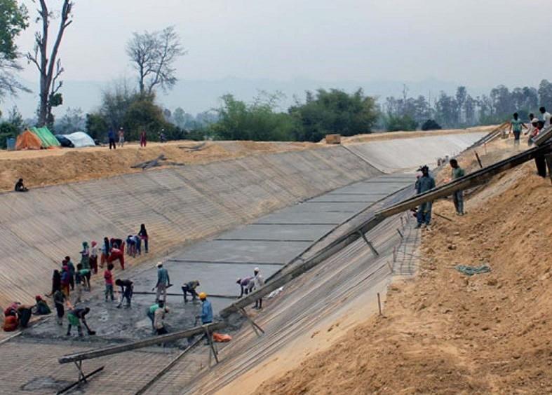 Sikta Irrigation Project records sluggish work progress