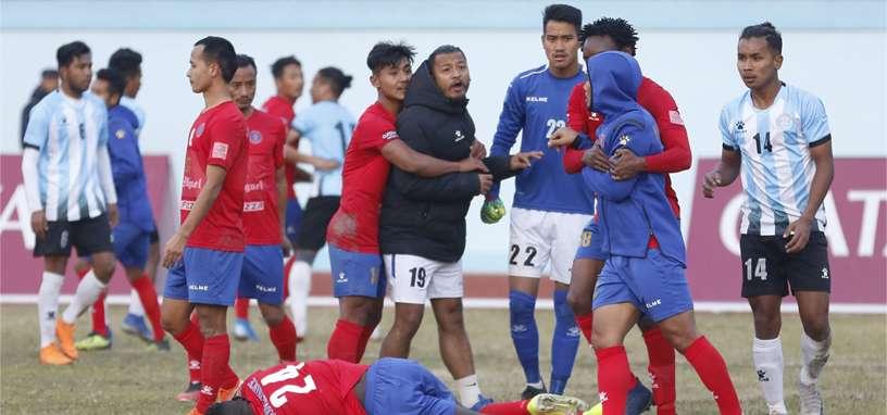 Players of Machhindra, Manang Marshyangdi face action
